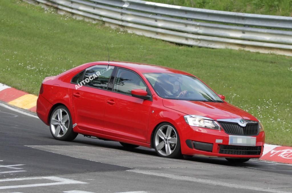 Nova Škoda Rapid na testni vožnji