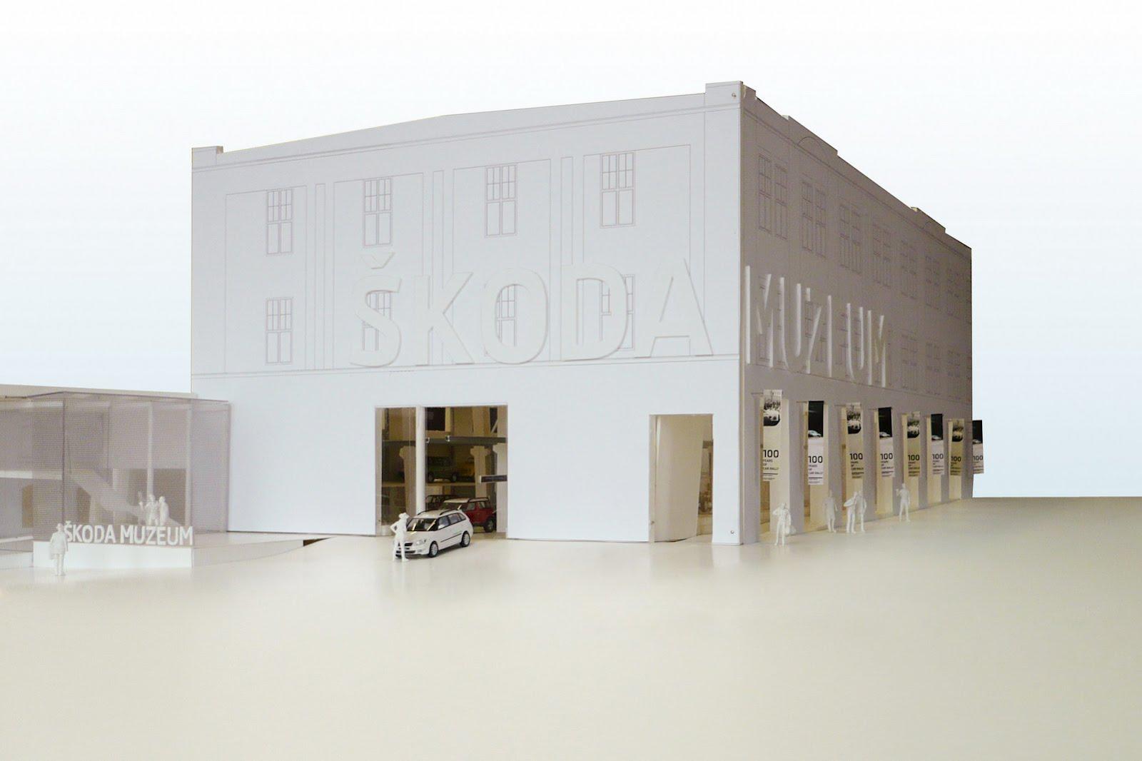 Škoda muzej (maketa muzeja)