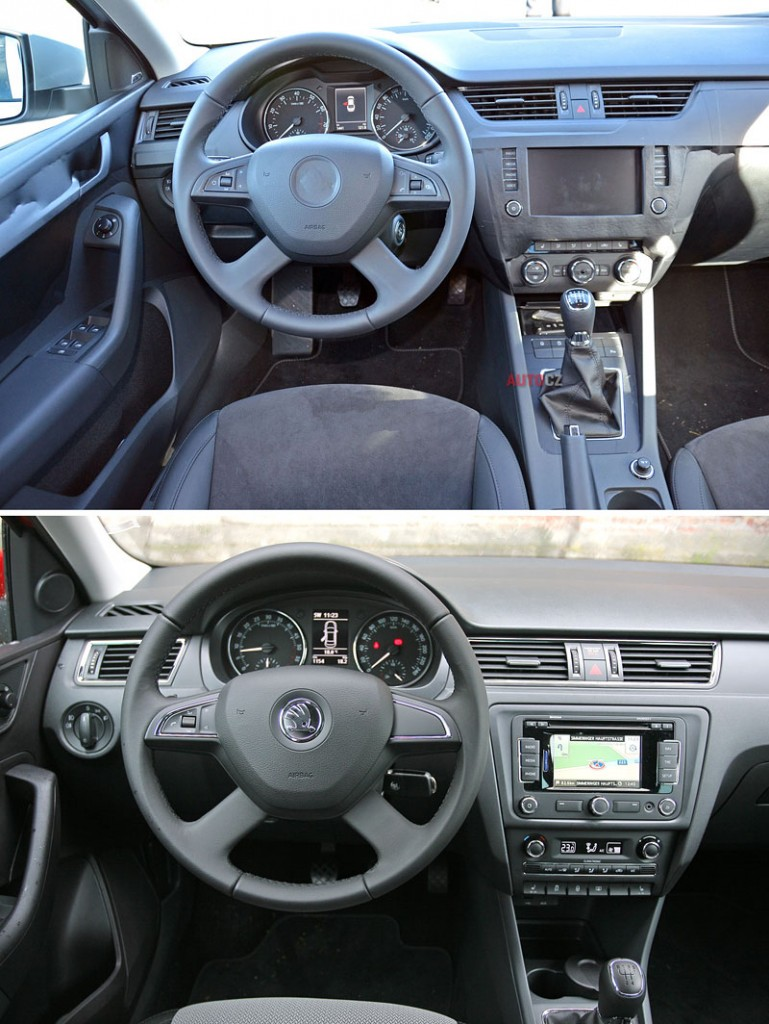 Škoda Octavia III (2013) - primerjava notranjosti