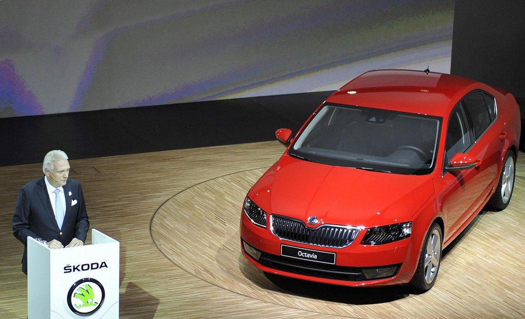 Škoda Octavia III (2013) uradna predstavitev v muzeju Mlada Boleslava