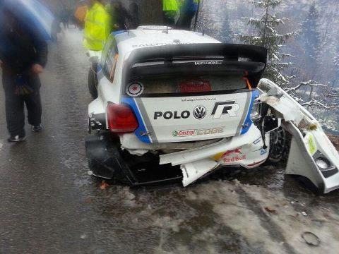 Jari-Matti Latvala na usodni 14. preizkušnji