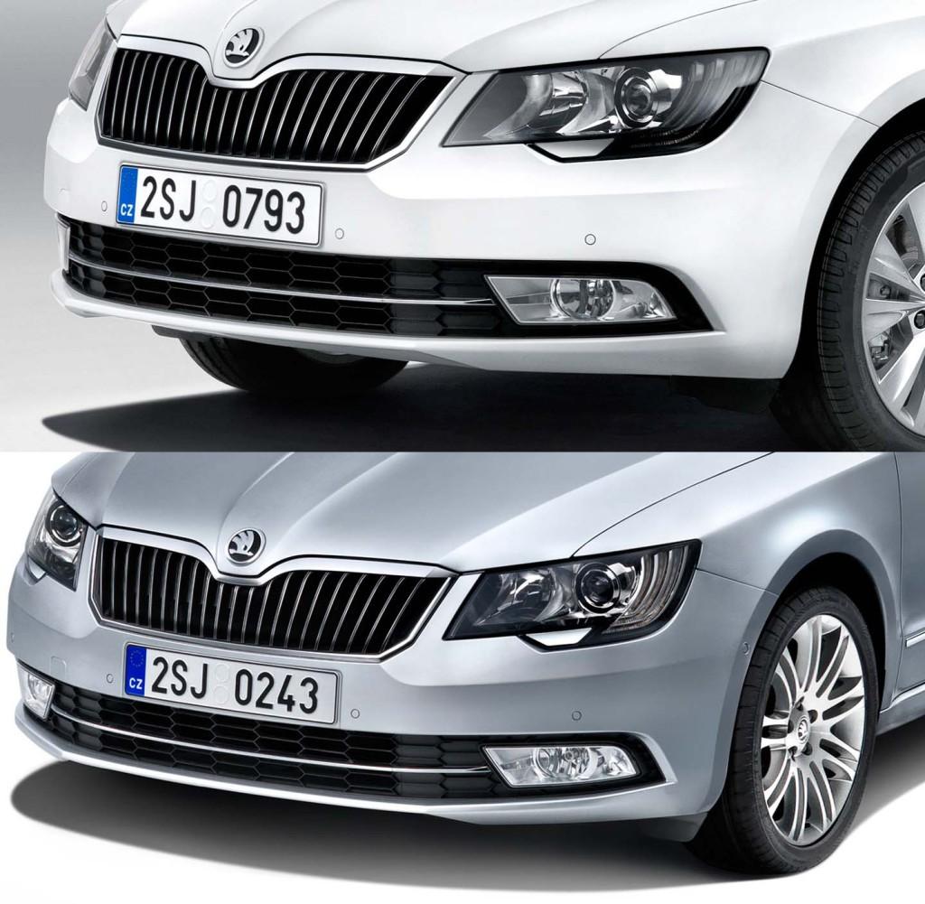 Škoda Superb facelift (2013) - bi-xenon sprednje luči z integriranimi LED dnevnimi lučmi!