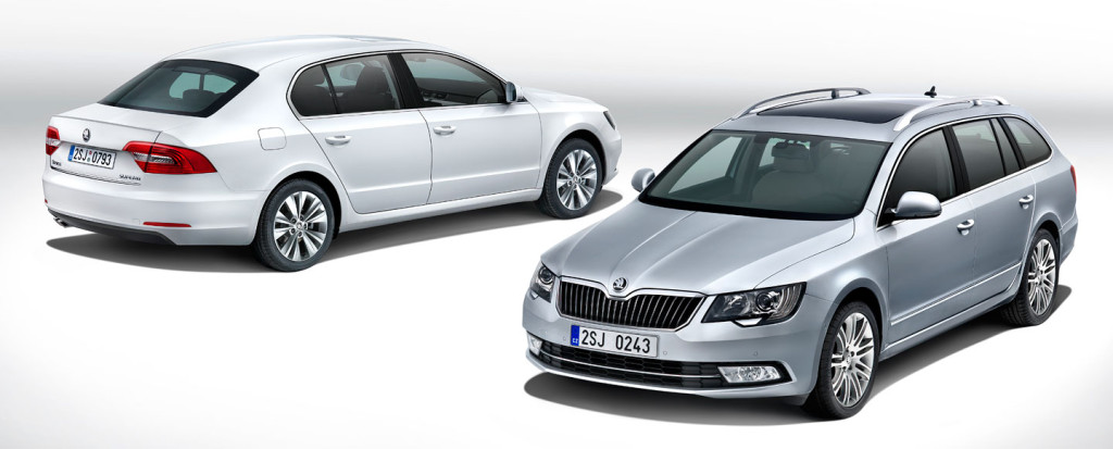 Škoda Superb in Superb Combi facelift (2013)