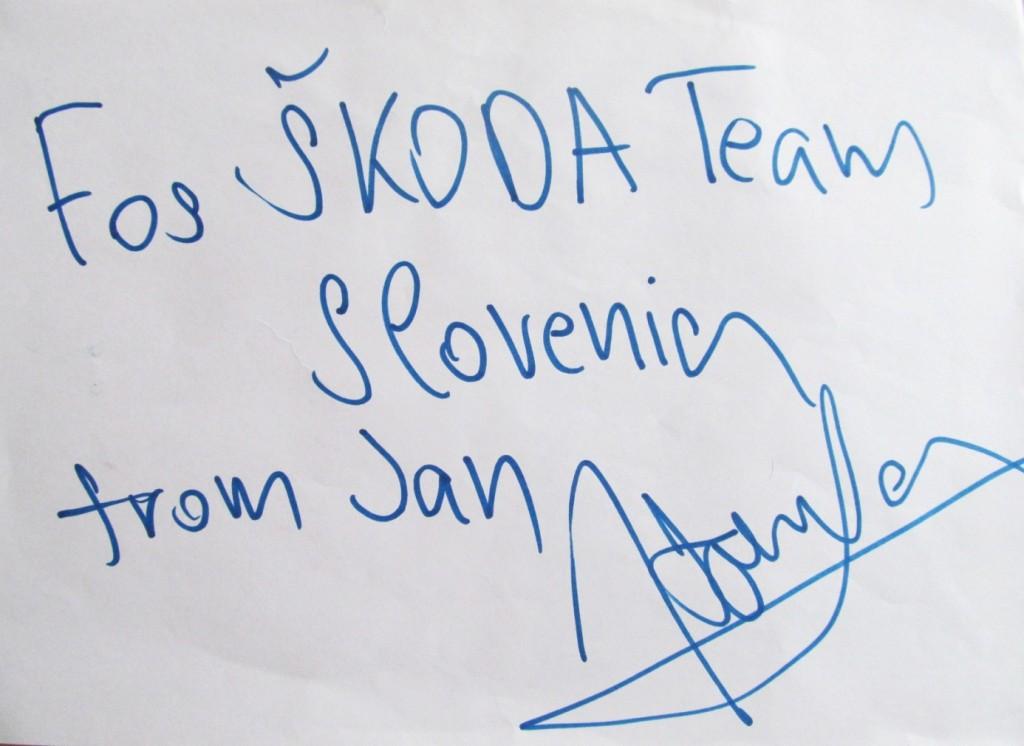 Podpis novega evropskega prvaka Jana Kopeckyja