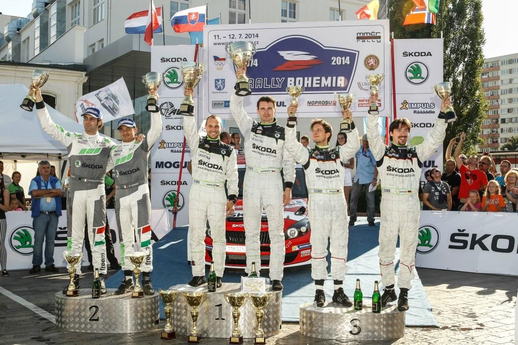 Trojna zmaga Škode na Rally Bohemia 2014
