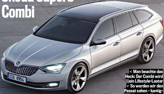 Škoda Superb Combi 2015 - render